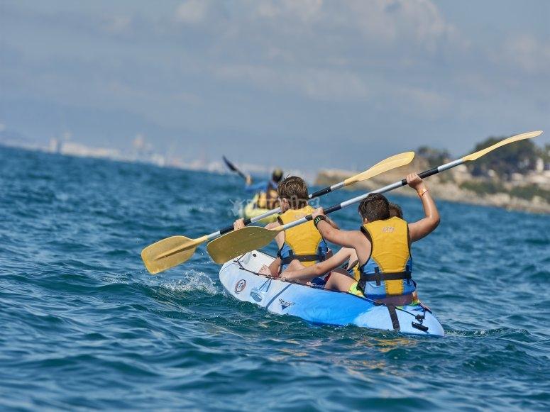 Salida guiada en kayak por Tamarit