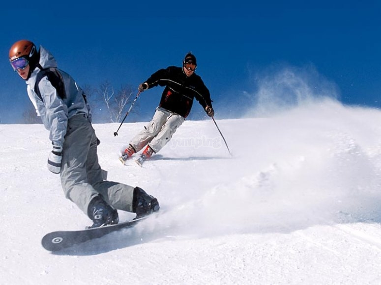 Clases de esquí o snowboard