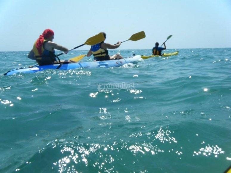 Circuito en kayak por Tarragona