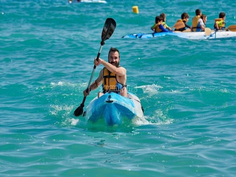 Travesía en kayak costa de Tarragona