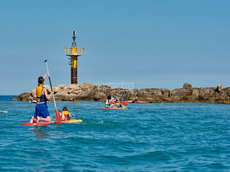 Paddle surfing tours in Costa Dorada