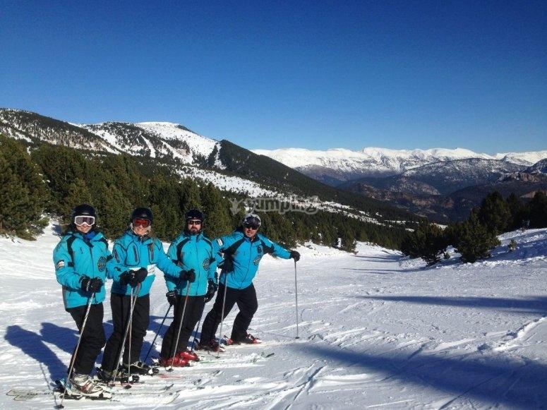 Port del Comte滑雪者