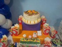 Cake and candies