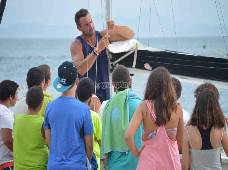 Explaining sailing elements