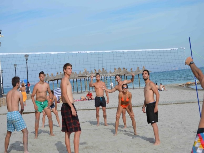 Volley match in the sand