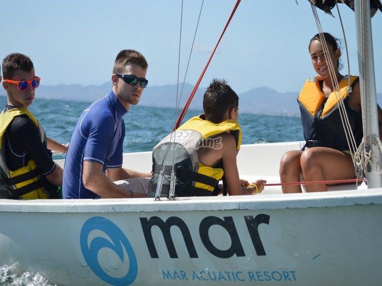 Sail boat in Murcia
