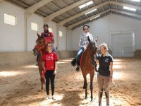Learning to ride a horse in Pamplona
