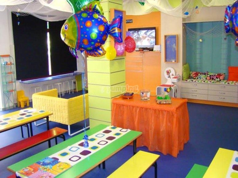 Centro de ocio infantil decorado