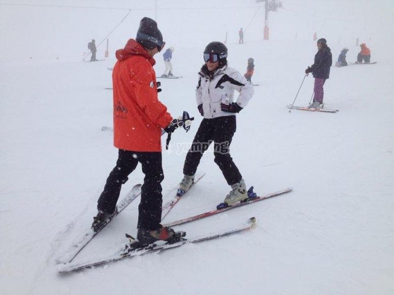 Aprendiendo los secretos del esqui