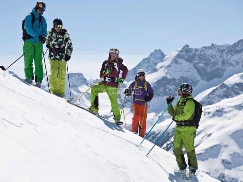 Sessione di sci
