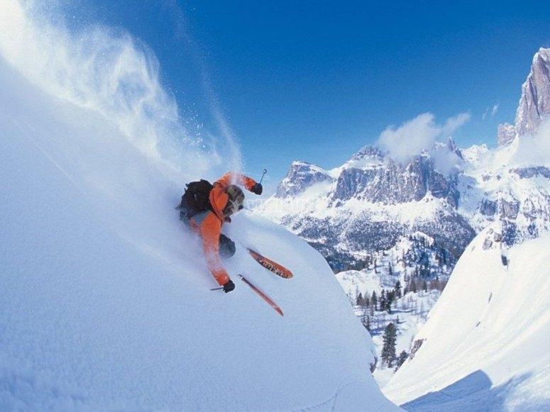 Disfrutando del esqui