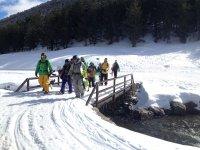 Yendo a practicar esquí