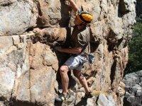 Ascension vertical en roca