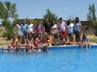 campo dei ragazzi in una piscina