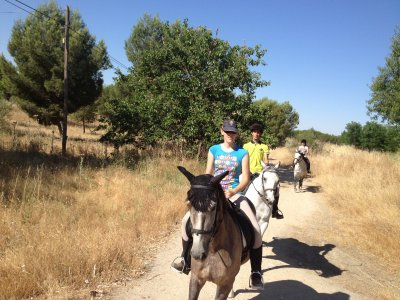 Horse ride in Olmeda with free track lesson