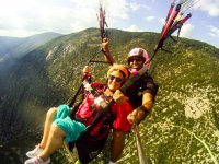 Accompanied by the paraglide