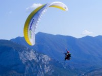 paraglide flight in the mountains