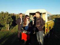 Visitando los viñedos en todoterreno