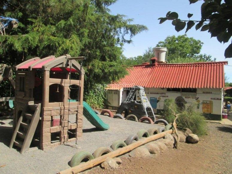 parque de juegos campamento