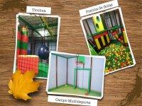 Nuestra Tirolina, Campo de Futbol y Baloncesto y nuestra piscina de bolas