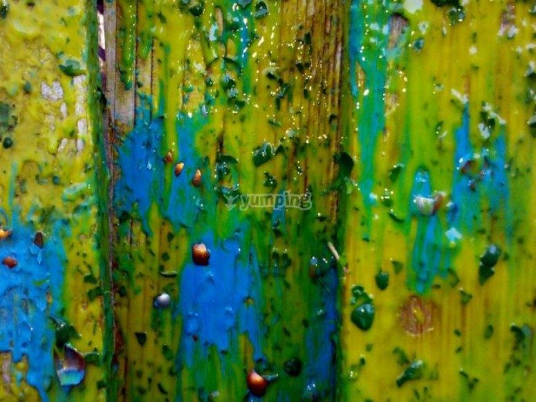 Pintura en la madera