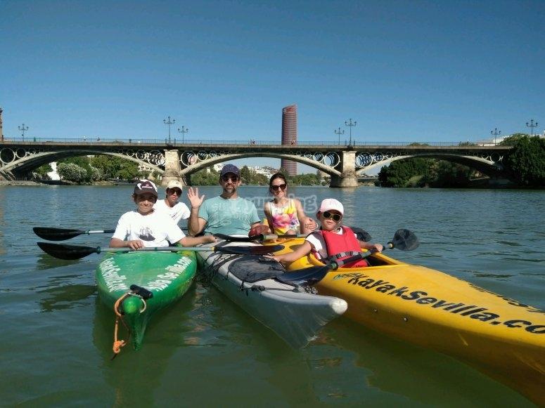 Kayak en familia por Sevilla