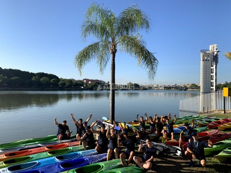 Clases de instrucción para kayak Sevilla
