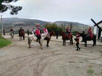 Ruta a caballo para despedida de soltero en Barranán