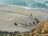 Travesía a caballo por las playas gallegas