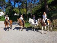 Disfrutando a caballo en Barrañán
