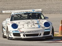 Porsche en la curva