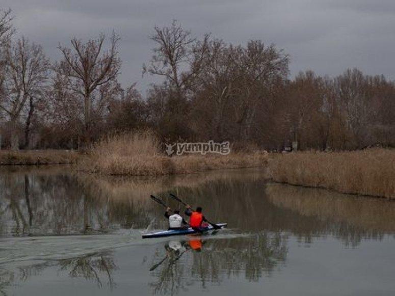 Kayaking and kayaks