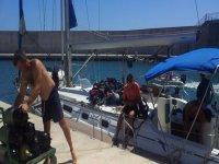 buceo desde el barco en Murcia