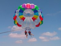 Parasailing for two in the sea