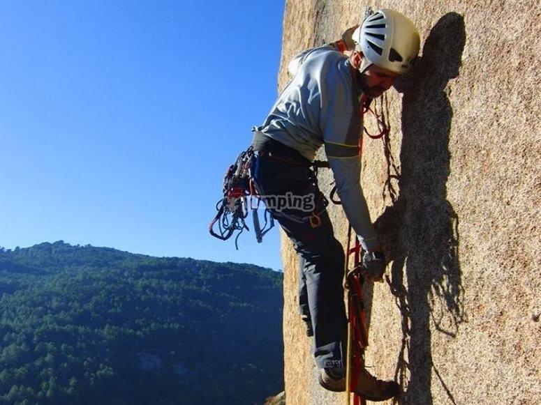 disfrutando de la pared
