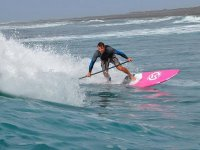 Paddle surf in onde
