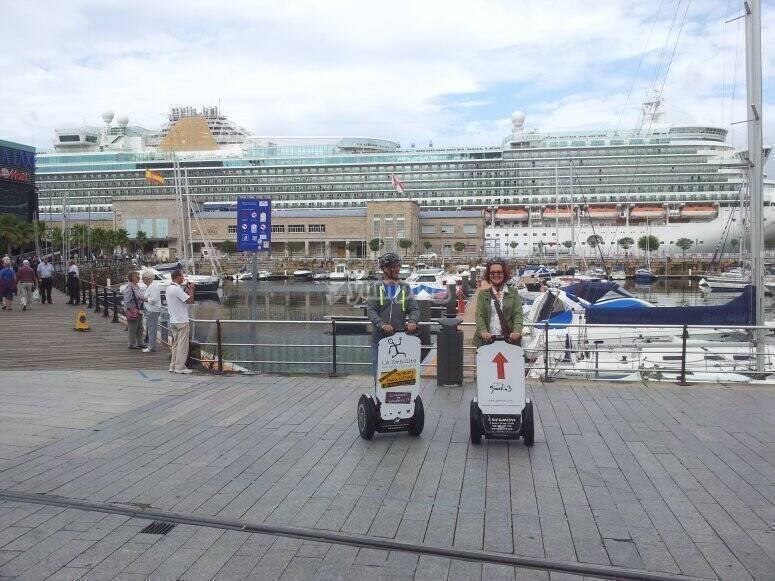 Segway prima della barca