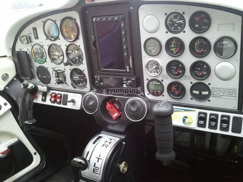 Panel de la avioneta