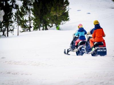Ruta en moto de nieve individual Andorra 2 horas