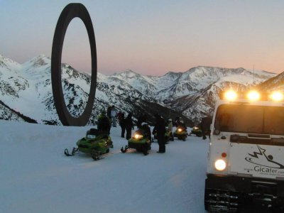 Moto nieve biplaza noche Andorra Ordino-Arcalis 2h