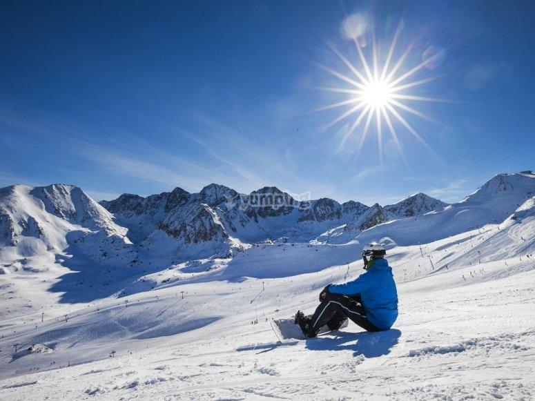 Descansando sobre la nieve
