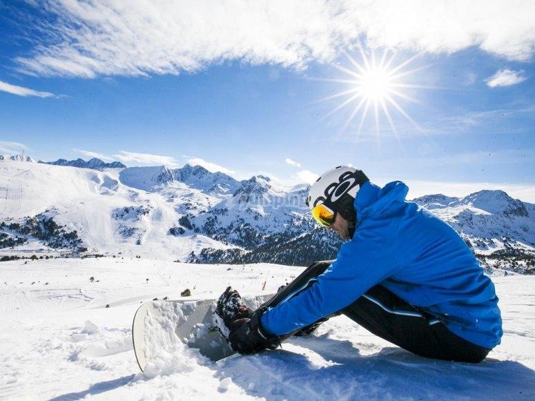 Haciendo deportes invernales