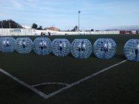 Burbujas de futbol alineadas