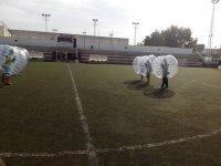 Burbujas en el centro del campo