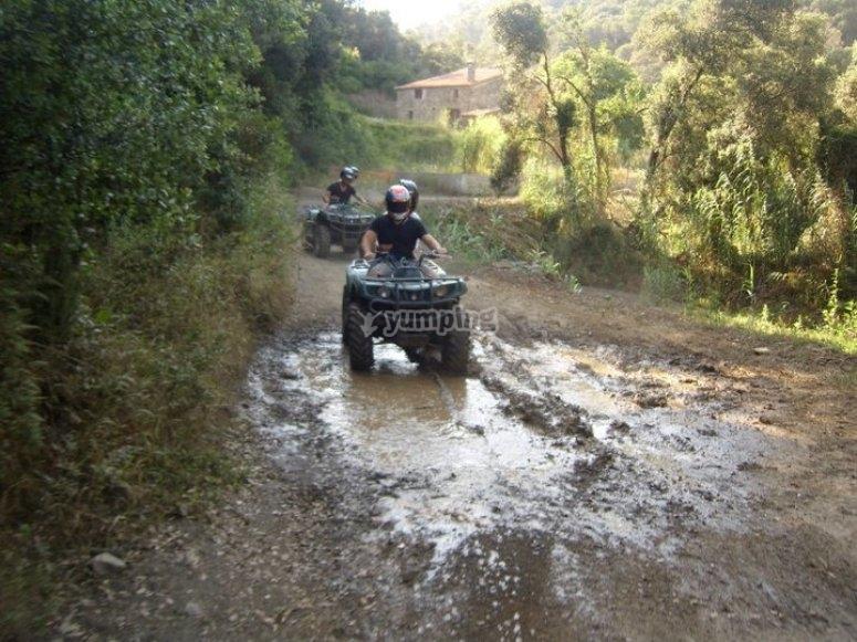 Large puddle