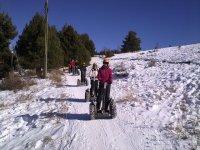 Segway on the snow