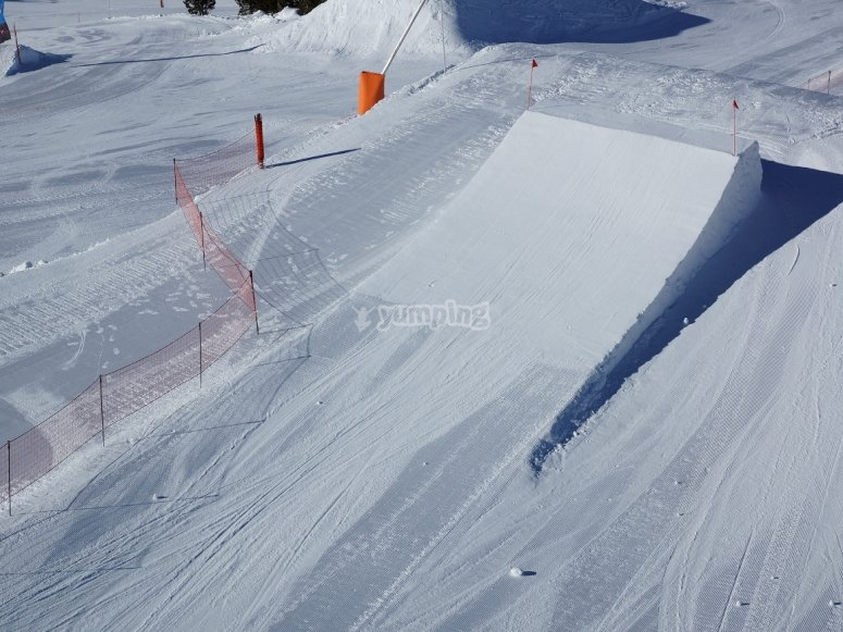 snow freestyle en Andorra