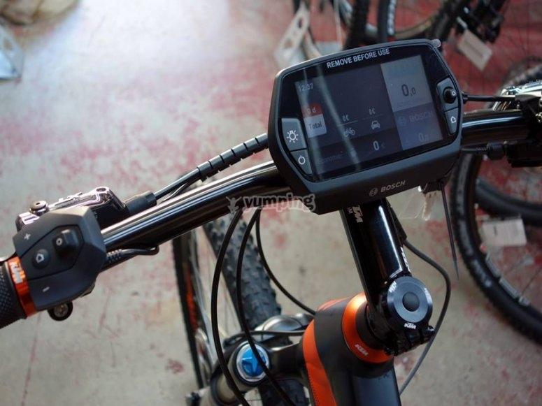 Screen of a bike