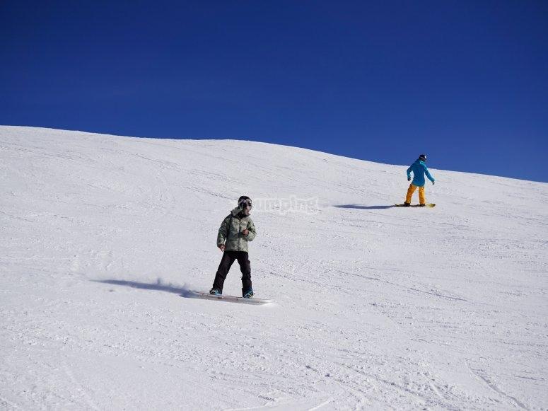 Sesion de snowboard