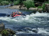 Rafting guided by a monitor